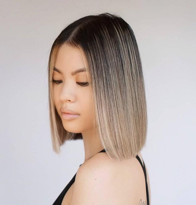право каре за тънка коса