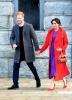Меган дълго червено палто