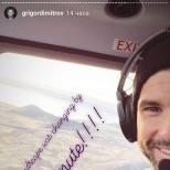 Григор Димитров в хеликоптер