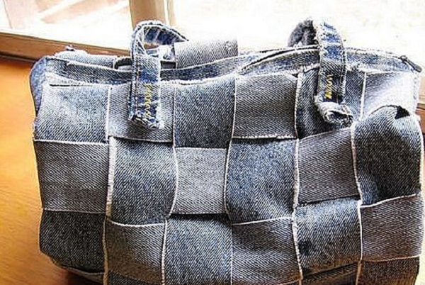 чанта от старите дънки