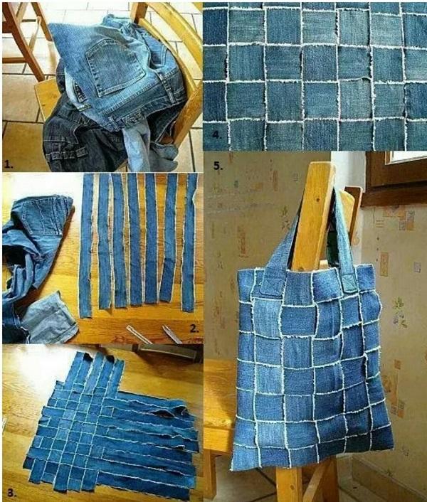чанта от стари дънки