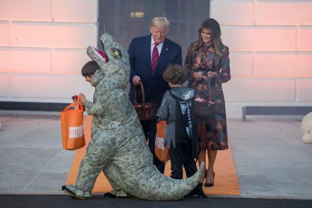 сем.Тръмп на Хелоуин