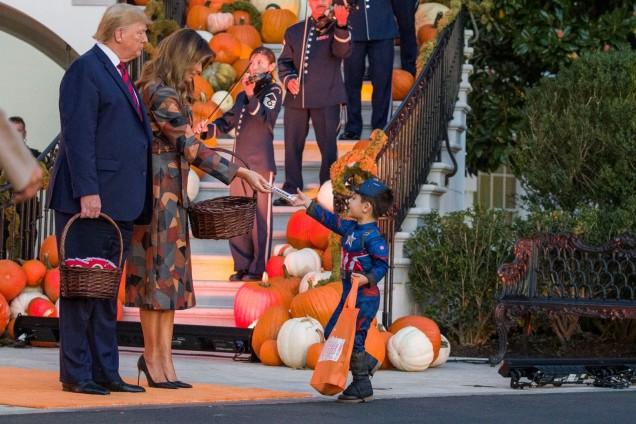 Първата дама на САЩ на Хелоуин