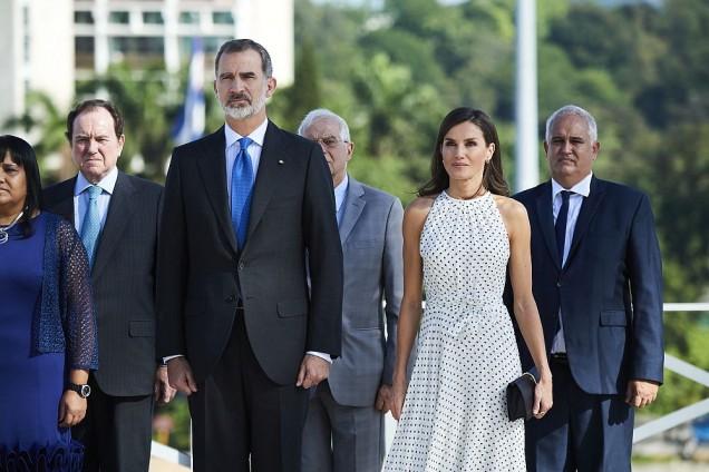 Кралица Летисия и Фелипе в Куба
