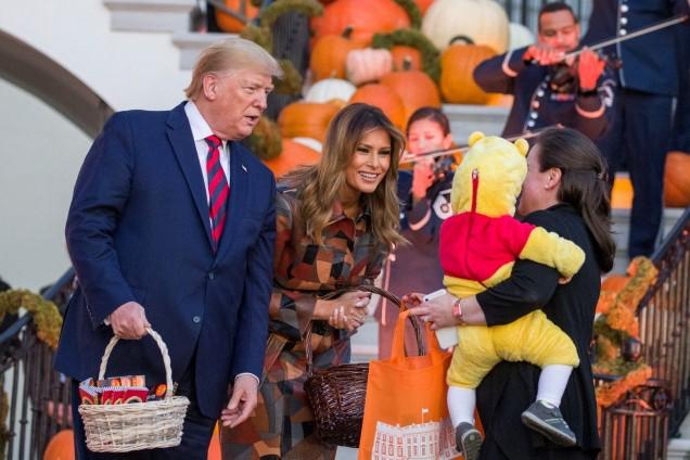 Мелания и Доналд на Хелоуин