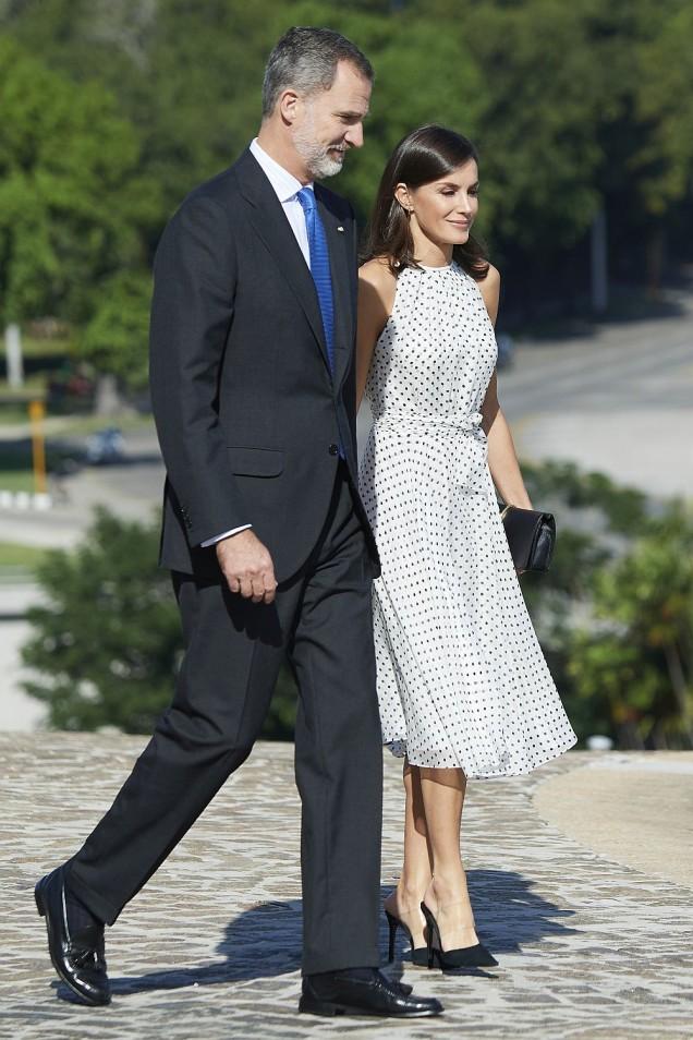 кралица Летисия със съпруга си