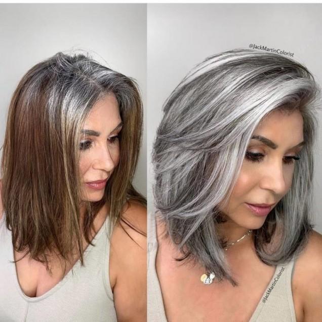 етажирана на косата
