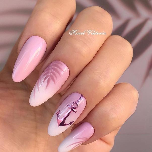 розово омбре с котвичка