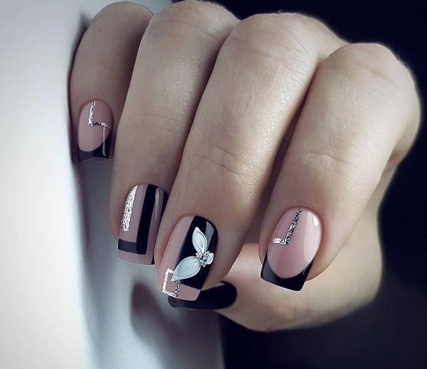 интересен френски къси нокти