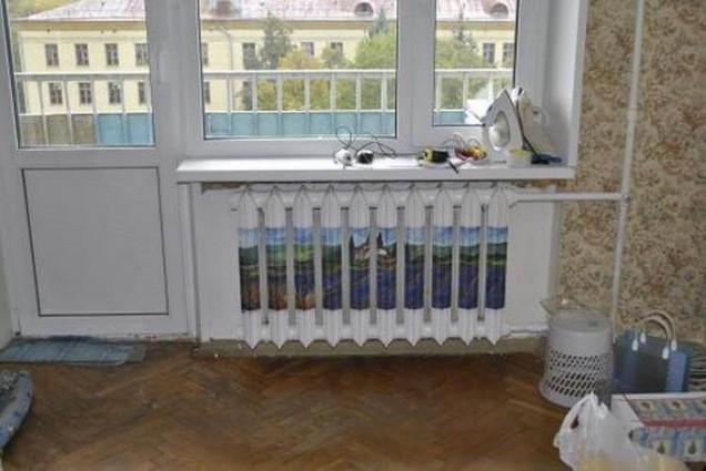 облицоване на стария радиатор