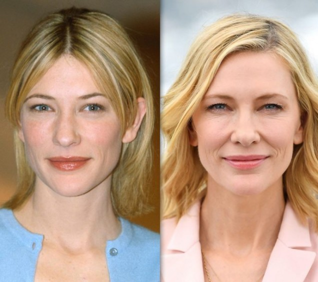 Кейт Бланшет преди и сега