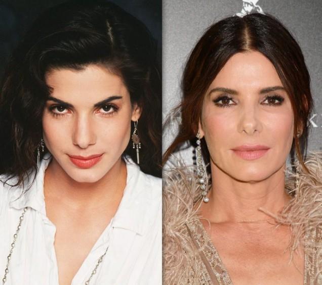 Сандра Бълок преди и сега