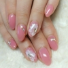 розов маникюр за къси нокти