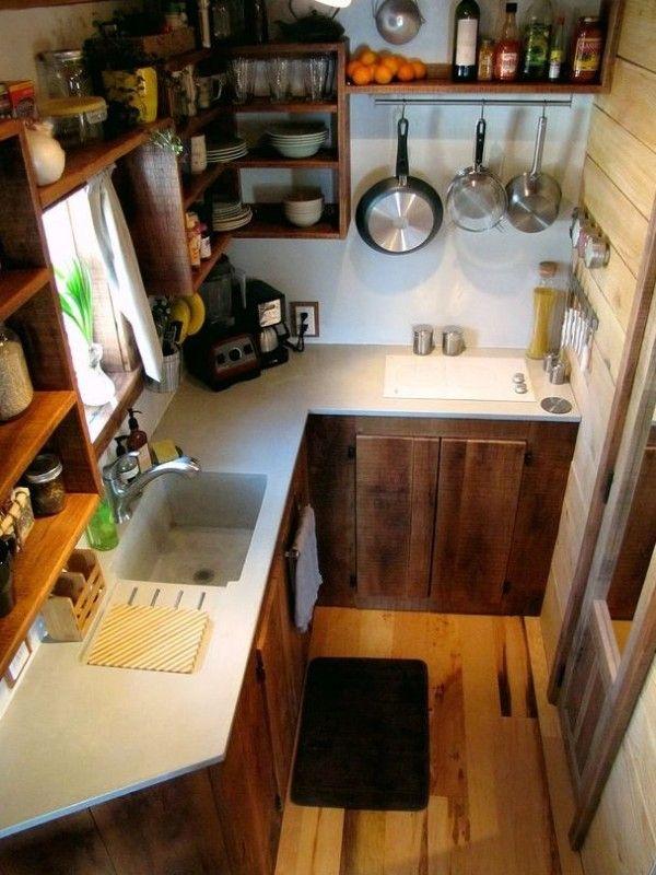 малка кухня на ъгъл