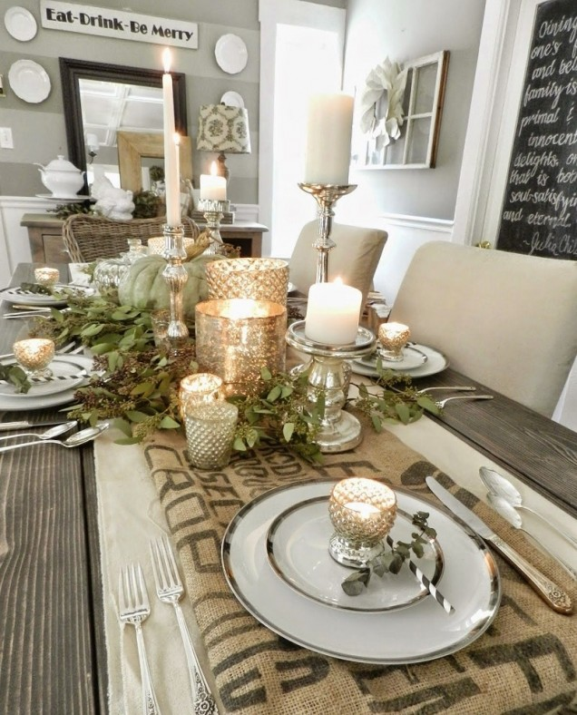 украса за маса със свещи