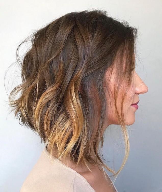 каре на чуплива коса
