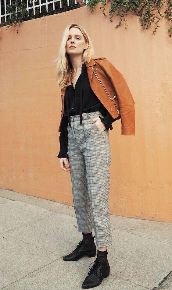 елегантен панталон каре