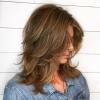 каскадна прическа среднодълга коса