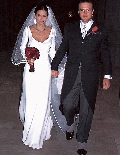 Кортни Кокс и Дейвид Аркет на сватбата им