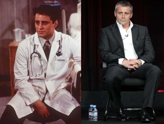 Мат Лебланк преди и сега