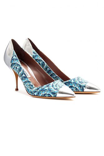 Обувки с хавайски принт