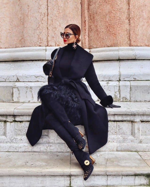 елегантно палто в лилаво