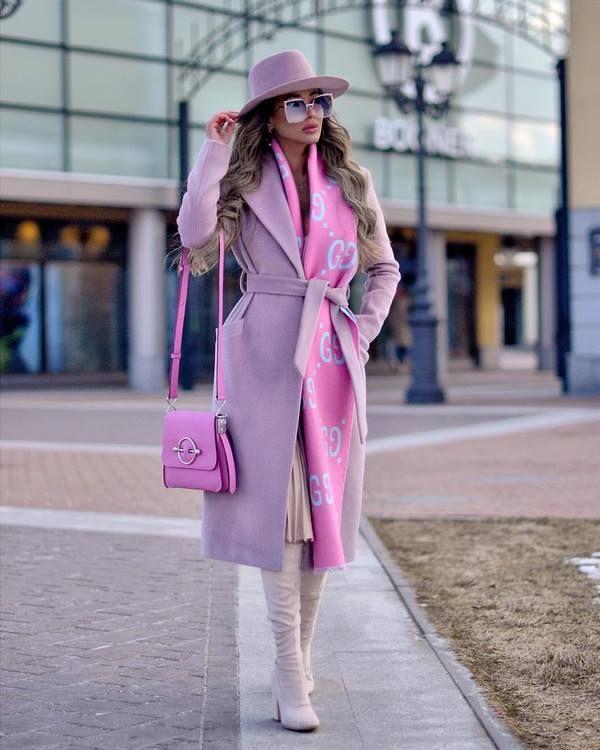 нежно люляково палто