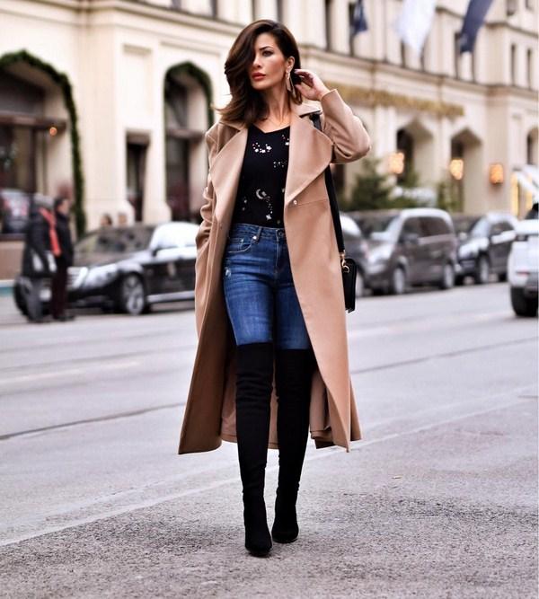 палто с дънки