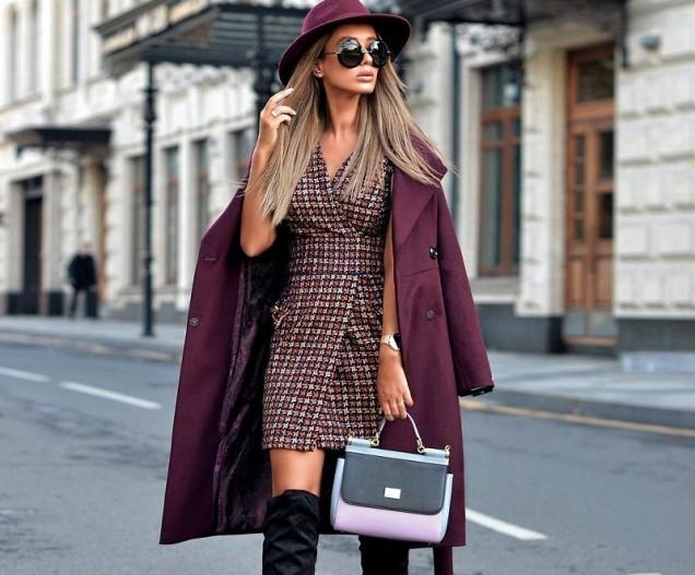 палто с къса рокля