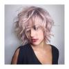 розова къса коса