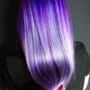 коса в лилаво