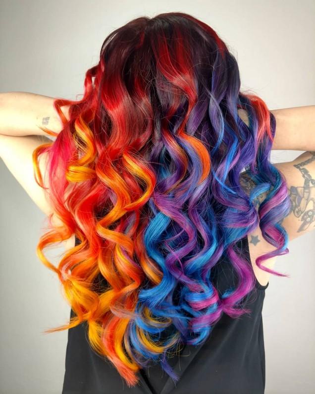 кичури ярки цветове