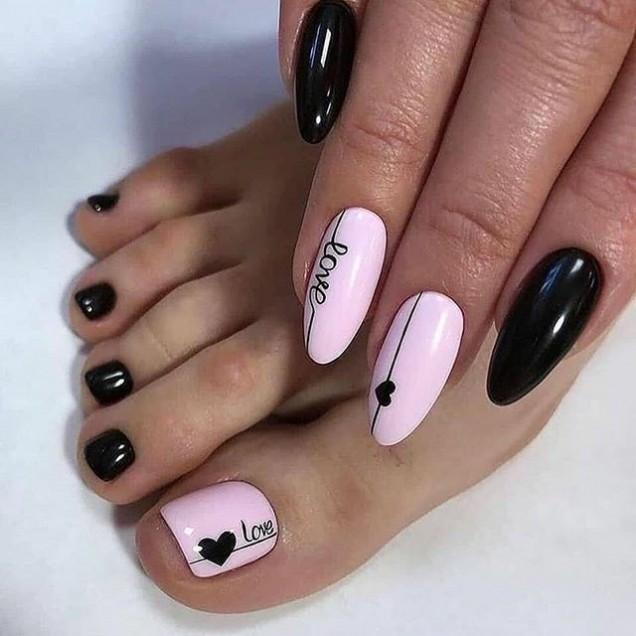 комбинация розово и черно