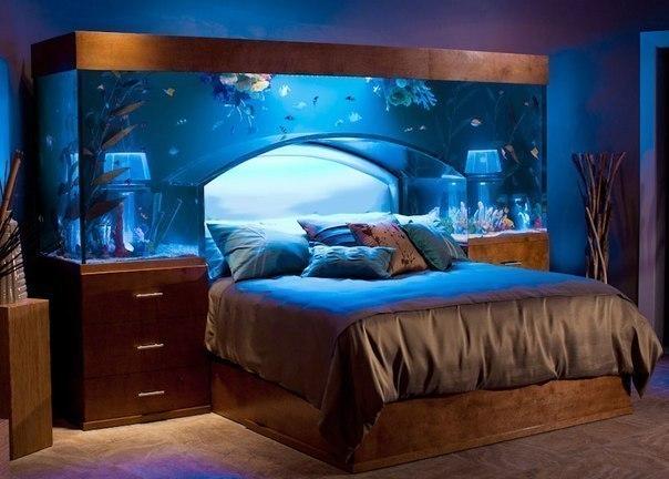 спалня аквариум