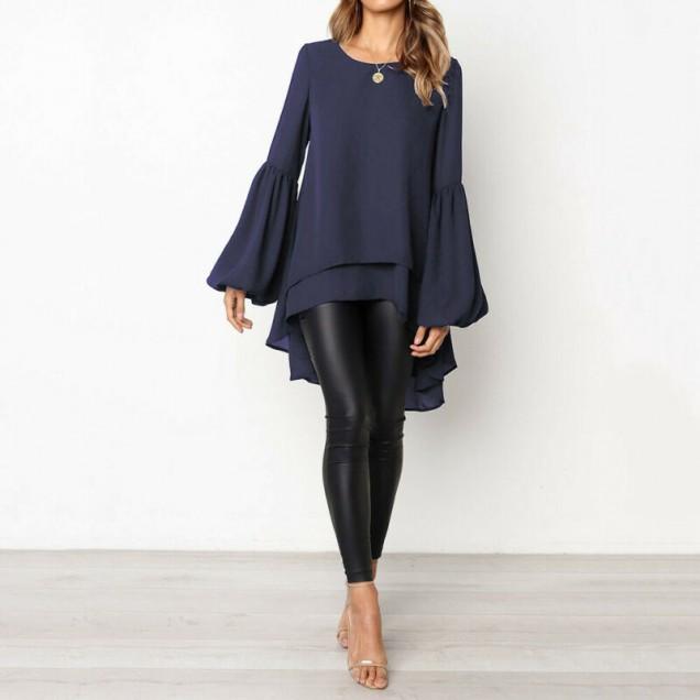 дълга асиметрична блуза