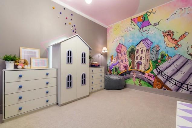 детска стая стенопис