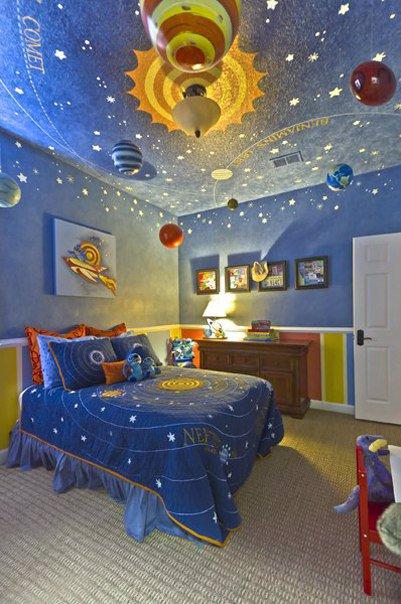 детска стая планети