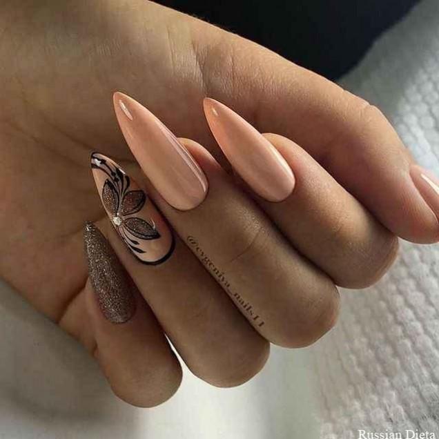 розов маникюр дълги нокти
