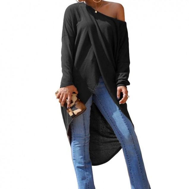 дълга блуза голо рамо