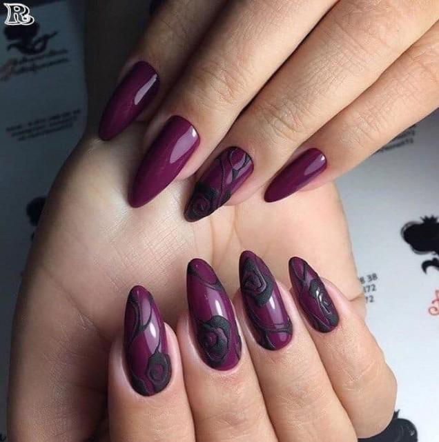 червени остри нокти