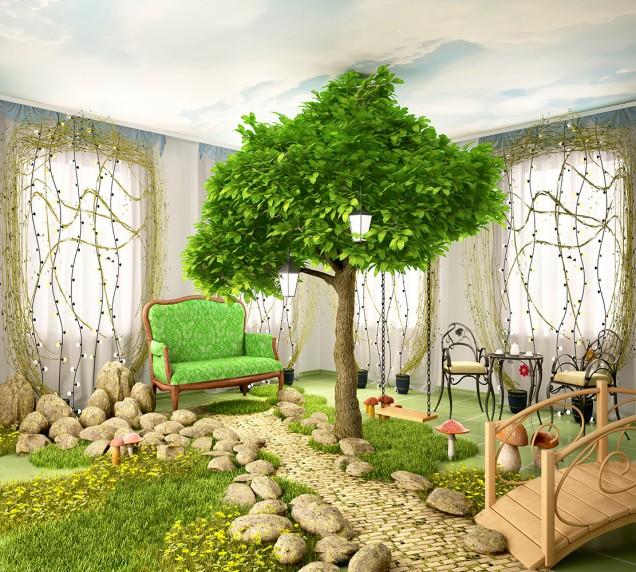 детска стая приказна гора