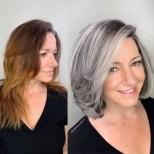 бяла прическа за жени над 40