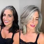 прически с бяла коса