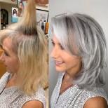 бяла модерна коса