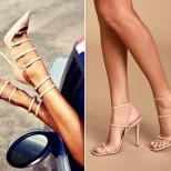 сандали с връзки