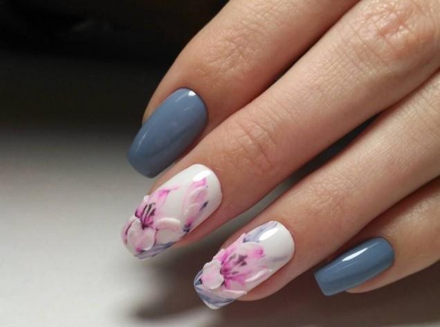 пролетен маникюр квадратни нокти