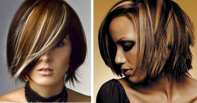модерни кичури къса коса