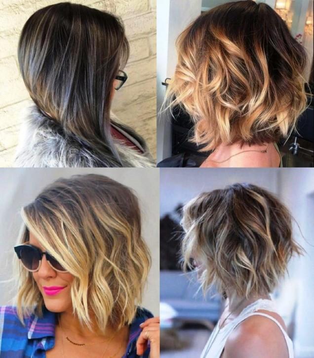 свежи прически среднодълга коса