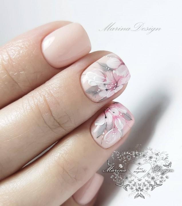 пролетен маникюр къси нокти