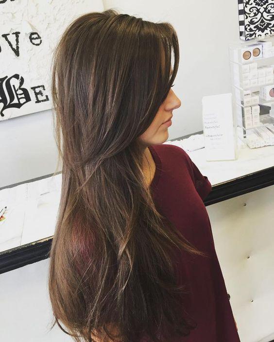 дълга прическа дълъг бретон
